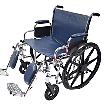 Wheelchair Heavy Duty-Navy Blue