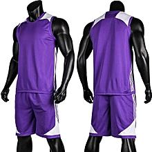 3889ce391 Blank Customized Youth Men  039 s Basketball Team Sports Jersey Uniform -Purple(