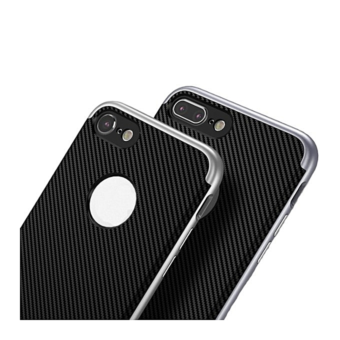 newest 81d95 7090a Ucase Carbon Fiber Hybrid PC TPU Case For iPhone 7/iPhone 8