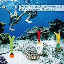 3pcs Swimming Pool Toys Sea Plant Shape Diving Toys Underwater Fun For Swimming Training