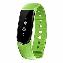 ID101 Smart Bracelet With Heart Rate Monitor Wristband Bluetooth Fitness Tracker(Green)