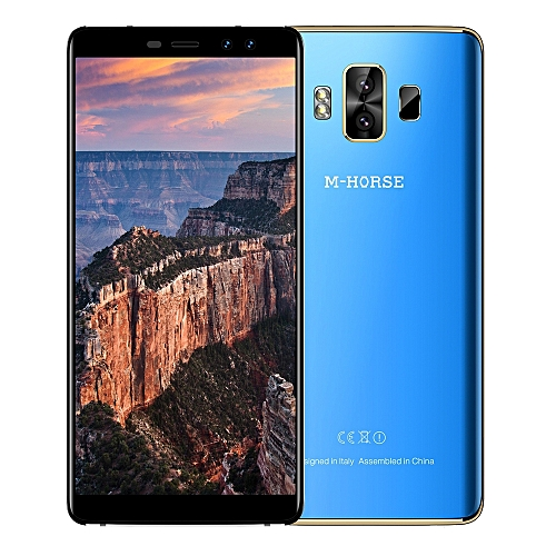 M - HORSE Pure 1 4G Phablet 5.7 inch Android 7.0 MTK6737 Quad Core 1.3GHz 3GB RAM 32GB ROM Dual Rear Cameras Fingerprint Scanner  BLUE