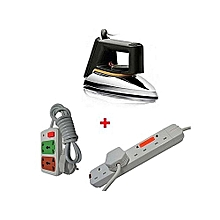 SR1172 Dry Iron Box + a FREE 2-way Power Extension Cable and a FREE 4-way Socket Extension Cable