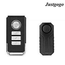 Justgogo Wireless Remote Control Alarm Bicycle Alarm Safety Lock Motorbike Vehicle Burglar Alarm Siren