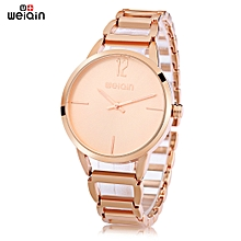 Women Hollow Stainless Steel Band 3Atm Wristwatch - Rose