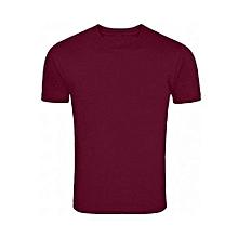 Maroon Plain T- Shirt unisex