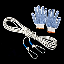 10/20/30/50M 8mm Mountaineering Climbing Sport Survival Recovery Rope Carabiner # 10m