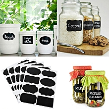 72Pcs Well Made Blackboard Sticker Craft Kitchen Candy Jar Organizer Labels
