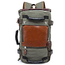 Large Capacity Wear-resistant Chic Canvas Backpack-CAMOUFLAGE GREEN