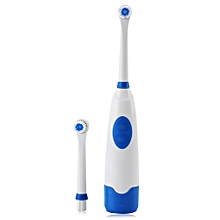 Electric Oral Hygiene Dental Care Toothbrush with 2 Brush Heads (BLUE)