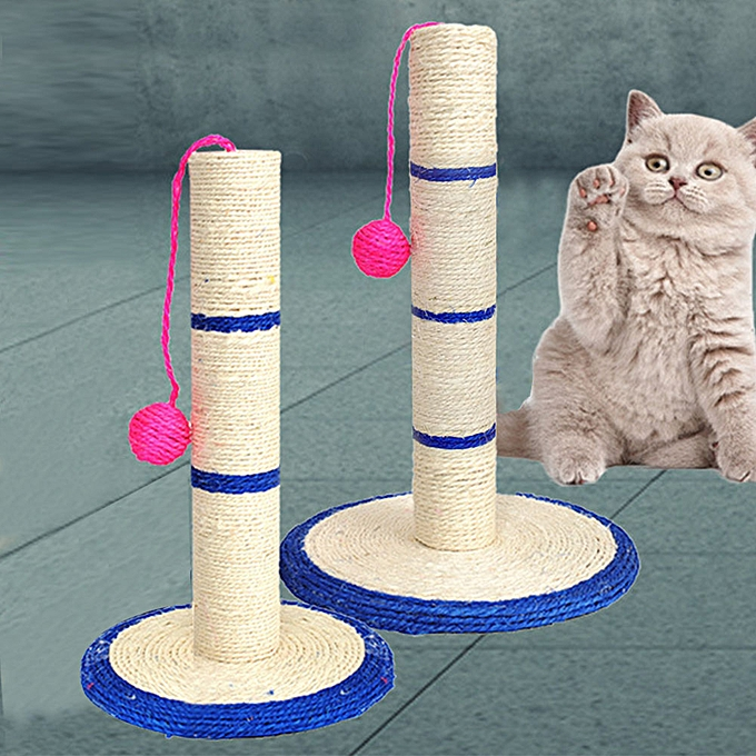 Sisal rope cat tree column cat claw plate grinding claw board cat toy clown  shape round bottom mouse cat scratching column cat scratch board hanging