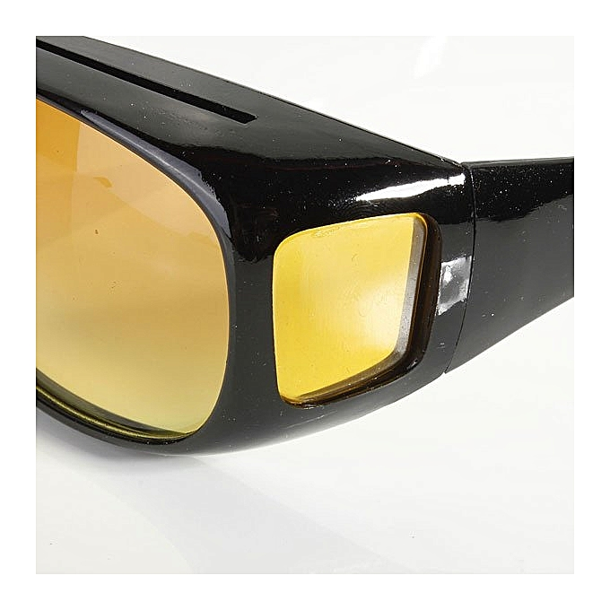 22926191f3f ... HD Lenses Unisex Sunglasses UV Protection Night Vision Driving Glasses  Yellow