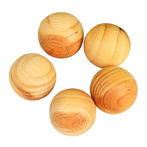 5x Camphor Wood Ball Smell Cedar Drawer Insect Repellent Mothball Essential  Oil UDOKA