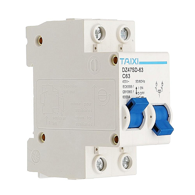 Buy Generic TAIXI DZ47SD-63 63A 50Hz/60Hz Circuit Breaker Dual Power ...