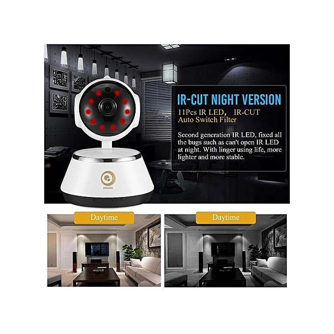 Digoo M1Z Wireless 1080P Wifi IP Camera Night Vision Smart Home Security  Monitor White