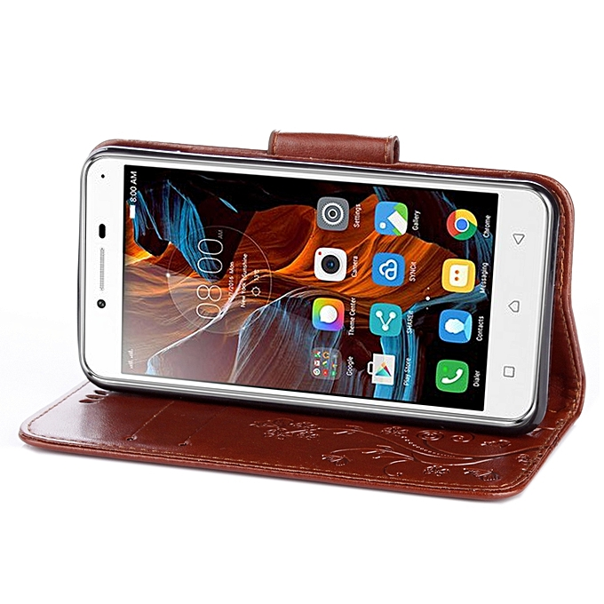 For Lenovo Vibe K5 Butterflies Love Flowers Embossing Horizontal Flip Leather Case with .