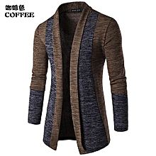 Men's Hot Sale New Men's Fashion Cardigan Sweatshirts Casual Slim Fit Cardigan Hoodies Cotton Stitching Jackets-coffee