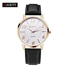 Women Watches quartz casual leather wristwatches women dress watch Black