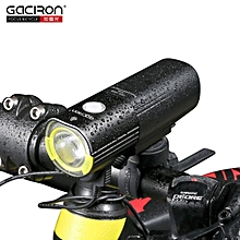 GACIRON 1000 LM Bicycle Light Front Handlebar Light 4500mAh IPX6 Waterproof LED Bike Light USB Rechargeable Power Bank Flashlight 6 Modes Black