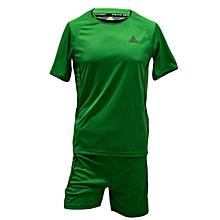F/Ball Jersey/Shorts (set Of 16)- Ts6001n.Green/Black- Set 16