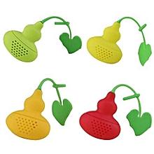Calabash Tea Infuser Diffuser Loose Leaf Chain Strainer Spice Filter