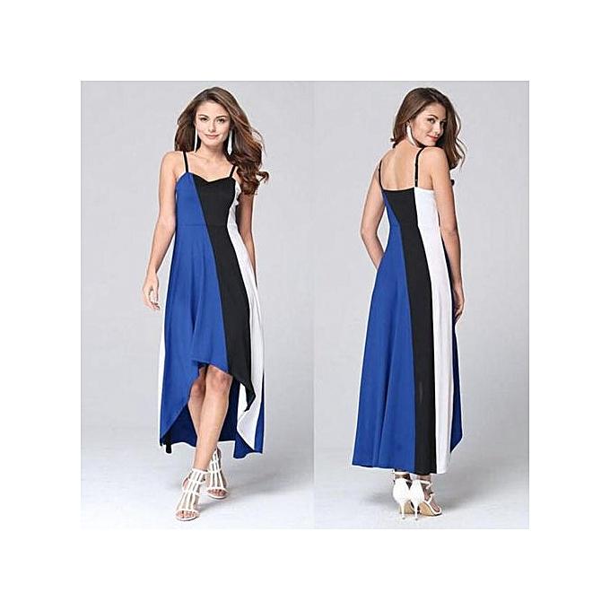 52dd5dfff6 Hiaojbk Store Women's Summer Boho Long Maxi Dress Evening Cocktail Party  Beach Dress BU/S