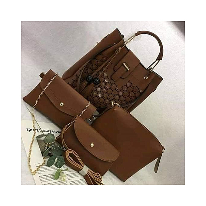 e7c2844333e Generic Ladies Handbag 4 in 1 - Brown   Best Price