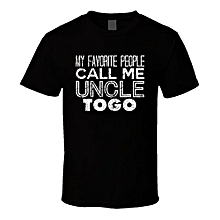 My Favorite People Call Me Uncle Togo Name Worn Look T Shirt