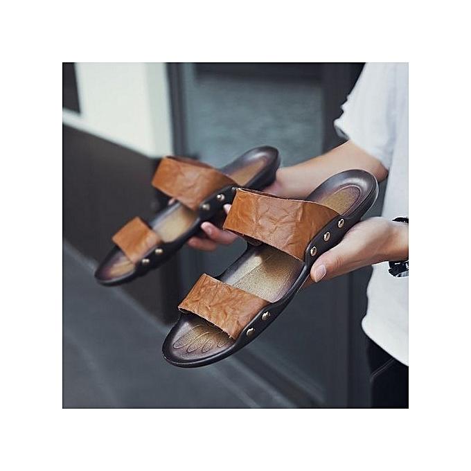 86c56e2165fd ... 2018 Men s Sandals Beach Shoes Casual Soft Waterproof Non-slip Shoes ...