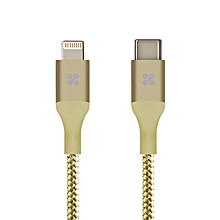 UniLink-LTC:Gold USB Type-C™ Cable, 1.2M Sync & Charging,Plug-in Using Any Side (reversible connector)