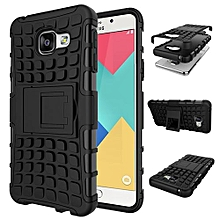 "For Galaxy [A3 2016] Case, Hard PC+Soft TPU Shockproof Tough Dual Layer Cover Shell For 4.7"" Samsung A310, Black"