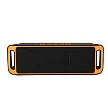 SC-208 Portable Bluetooth Stereo Wireless Speaker Support Handsfree FM Radio AUX USB TF Card Mic for Phone(Orange)