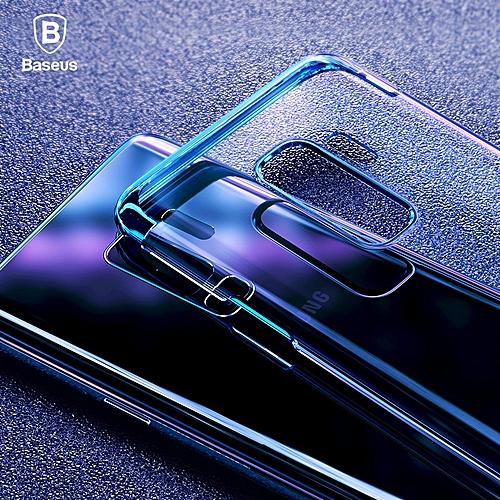 Baseus Case for Samsung Galaxy S9 Plus Ultra Thin Transparent Plating Hard  Plastic Case (6 2