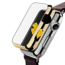 Ultra-Slim Electroplate PC Hard Case Cover For Apple Watch Series 1 38mm GD-Gold
