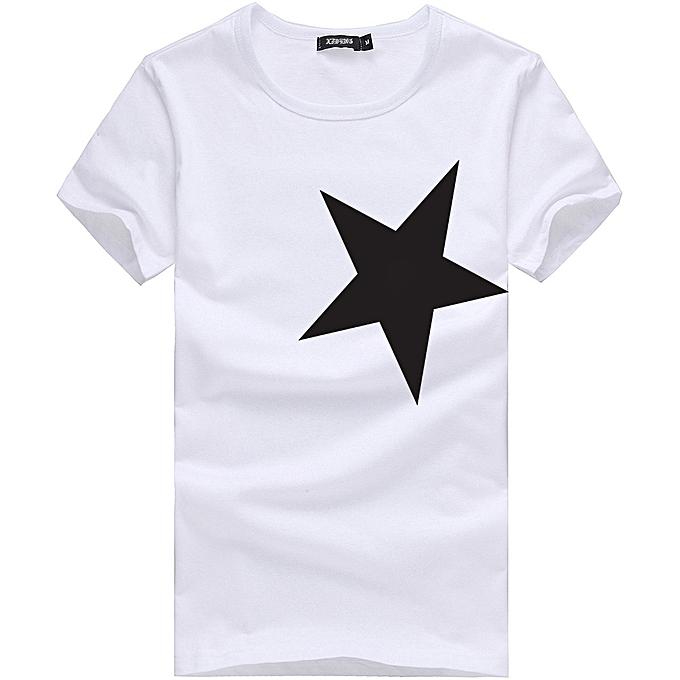 cfb2519aed5 5XL Men O-neck T shirt 2018 Summer fashion Printed pattern mens slim t  shirt Plus size casual cotton t shirt men for boy-white10