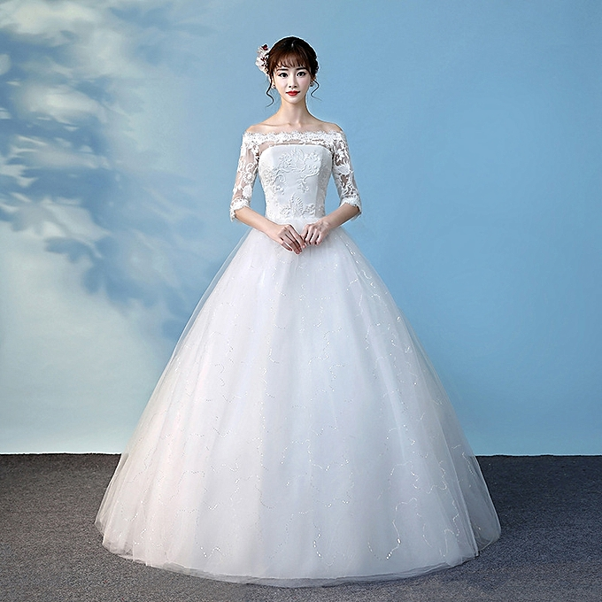 GeneAfrica Women's Ball Gown Bridal Wedding Dresses-White