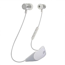 Wireless Earphones, H09 Sport Bluetooth Headphones Noise Cancelling Earbuds Stereo Neckband Headset with Mic - White