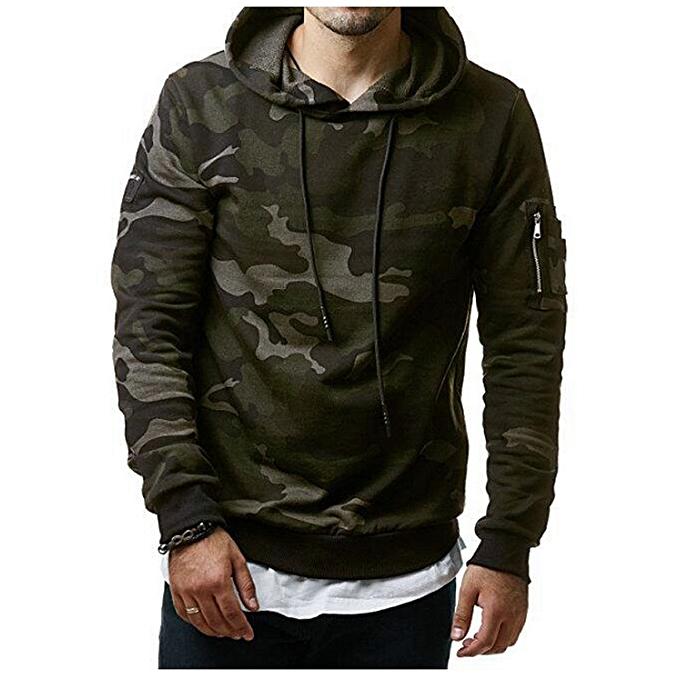 a62ec0b6592a0 Cool Men's Fashion Winter Camouflage Hoodie Warm Hooded Sweatshirt Coat  Jacket Outwear Hoodies Plus Size-