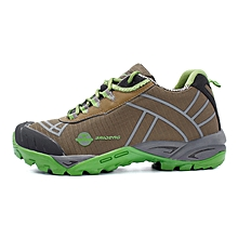 Spring Autumn Outdoor Men Hiking Mountain Climbing Shoes Anti-skid Breathable Trekking Shoes Casual Travel Sports Sneakers - Green