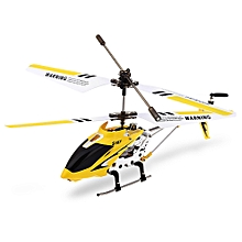 S107G 3CH Remote Control Helicopter Alloy Copter With Gyroscope - Yellow