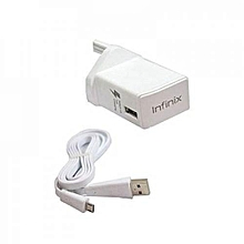 3 Pin Flash Charger for  Infinix - White