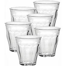 Picardie Tumblers - Set of 6- 25CL - Clear
