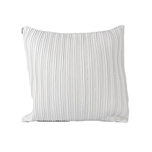 Striped Decorative Pillow - Large - White