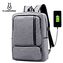 Business Laptop Casual Minimalist Backpack - Gray