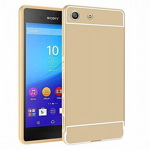 finest selection ccea5 30c1a Luxury Metal Aluminum Bumper For Sony Xperia M5 Case Detachable + Mirror  Hard Back 2 In 1 Cover Ultra Thin Frame (Color:c0)