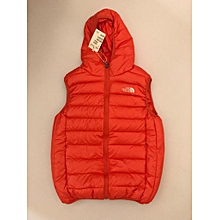 Half Puffed Jackets - 3-7 years orange