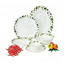RF4720 Dinner Set 33 pcs - White with Green Leaves .
