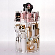 122395111819 3 Tier Makeup Organizer Storage Holder Jewelry Display 360° Rotating Box Case Y1