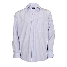 White & Purple Narrow Striped Shirt