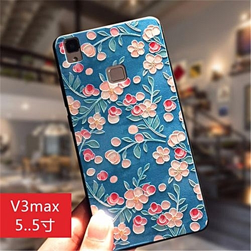 """For Vivo V3MAX 5.5"""" Inch Fashion Ultra-thin Silica Gel 3D Stereo Relief Colorful"""